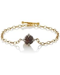 Cathy Waterman - Rustic Diamond Charm Bracelet - Lyst