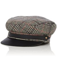 Lola Hats - Corto Plaid Wool Chauffeur Cap - Lyst