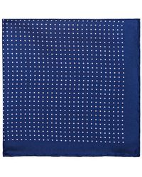 Bigi - Polka Dot Silk Pocket Square - Lyst