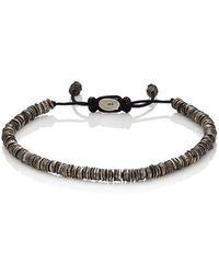M. Cohen - Silver Discs On Cord Bracelet - Lyst