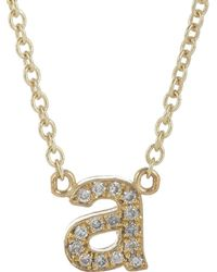 Jennifer Meyer - Initial Necklace - Lyst