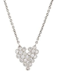 Cathy Waterman - Scalloped Heart Pendant Necklace - Lyst