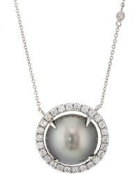 Samira 13 - Sliced Tahitian Pearl Pendant Necklace - Lyst