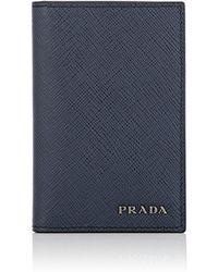 Prada - Leather Folding Card Case - Lyst