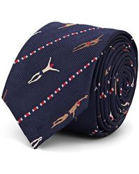 Thom Browne - Swimmers-motif Silk-cotton Necktie - Lyst