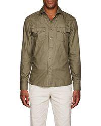 Brunello Cucinelli - Cotton Classic Leisure Western Shirt - Lyst