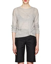 Helmut Lang - Knotted Cashmere Sweater - Lyst