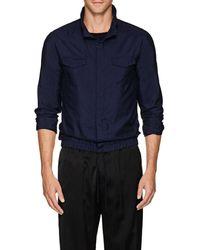 Giorgio Armani - Silk Shantung Blouson Shirt - Lyst