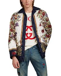 45395dcdb Gucci Wool Cashmere Jacket in Blue for Men - Lyst