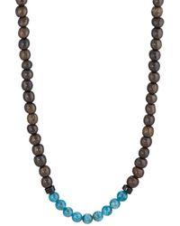 Caputo & Co. - Apatite & Wood Beaded Necklace - Lyst