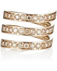 Roberto Marroni - Brown-diamond Spiral Ring - Lyst