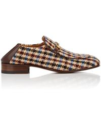 Gucci - Horse-bit Checked Wool Loafers - Lyst