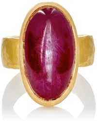 Malcolm Betts | Ruby Cabochon Ring | Lyst