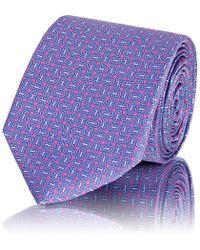 Barneys New York - Interlocking-circles Silk Satin Necktie - Lyst