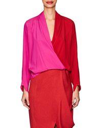 Zero + Maria Cornejo - Jazmin Colorblocked Silk Blouse - Lyst