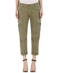 RE/DONE - Distressed Ribbed Cotton Trousers - Lyst