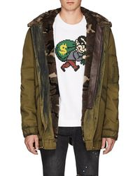 Mr & Mrs Italy - Fur-lined Camouflage Cotton Parka - Lyst