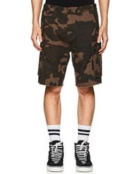 Ovadia And Sons - Camouflage Cotton Cargo Shorts - Lyst