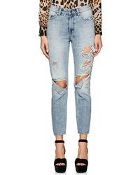 Ksubi - Slim Pin Distressed Jeans - Lyst