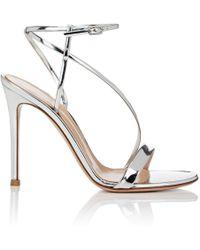Gianvito Rossi - Carlyle Specchio Leather Sandals - Lyst