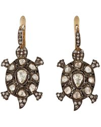 Munnu - Turtle Drop Earrings - Lyst