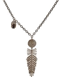 Carole Shashona - Women's Angel Wing Pendant Necklace - Lyst