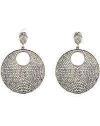 Carole Shashona - Women's Moon Reflective Drop Earrings - Lyst