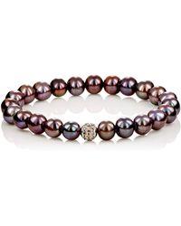 Devon Page Mccleary - White Diamond & Pearl Bracelet - Lyst