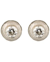Malcolm Betts | Hammered Circular Stud Earrings | Lyst
