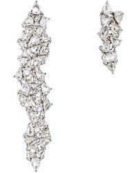 Monique Pean Atelier - White Diamond Mismatched Drop Earrings - Lyst