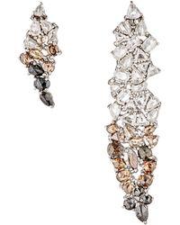 Monique Pean Atelier - Women's Mixed-diamond Asymmetrical Earrings - Lyst