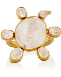 Munnu | Spinning Moonstone Turtle Ring | Lyst