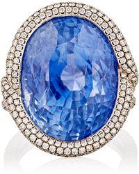 Munnu - Women's Blue Sapphire Cocktail Ring - Lyst