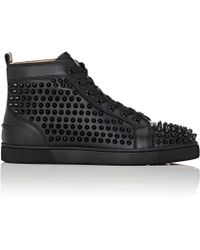louboutin studded mens shoes