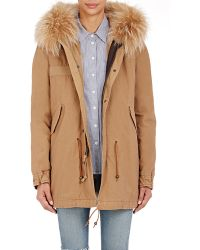 Mr & Mrs Italy - Canvas Fur-trimmed Parka - Lyst