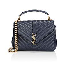 ysl new bag collection - Saint laurent Monogram Medium Matelasse Leather College Bag in ...