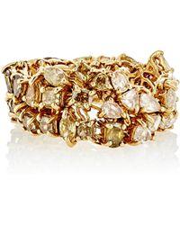 Monique Pean Atelier - Mixed-diamond Geometric-link Ring - Lyst