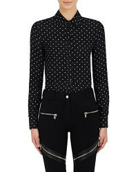 Givenchy - Star-pattern Jacquard Crepe Blouse - Lyst