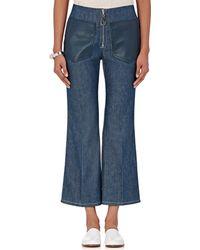 Edun - Lambskin Pocket Flared Jeans - Lyst