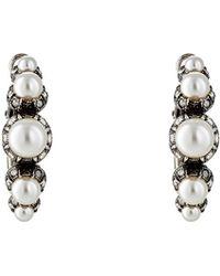 Lanvin - Embellished Hoop Earrings - Lyst
