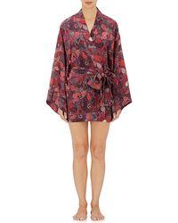 LFrank - Abstract-paisley Silk Short Kimono - Lyst