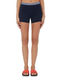 Tory Sport - Triangle-appliquéd Stretch-microfiber Shorts - Lyst