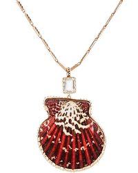 Dezso by Sara Beltran - Shell Pendant Necklace - Lyst