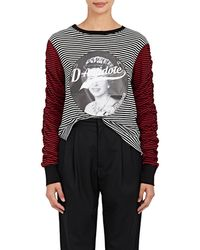 D-ANTIDOTE - Logo-graphic Striped T - Lyst
