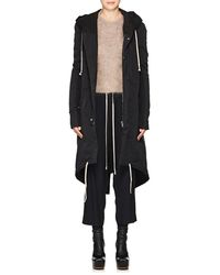 Rick Owens - Cotton-blend Insulated Hooded Parka - Lyst