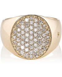 Tom Wood - Pinky Oval White Diamond Ring - Lyst