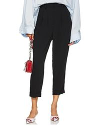 MM6 by Maison Martin Margiela - Crepe Drop-rise Tapered Trousers - Lyst