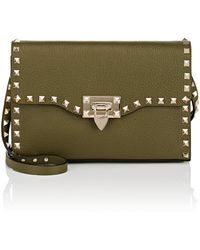 Valentino - Rockstud Medium Leather Shoulder Bag - Lyst