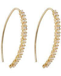 Ileana Makri - Baguette Eye Hoop Earrings - Lyst