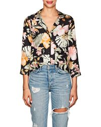 Barneys New York - Tropical-floral Silk Pyjama - Lyst